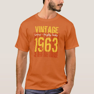 50th Birthday Gift Best 1963 Vintage V011 T-Shirt