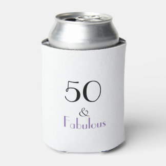 50th Birthday Gift Can Cooler