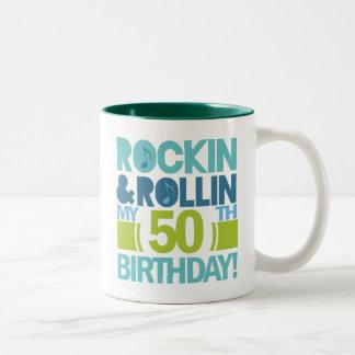 50th Birthday Gift Ideas Two-Tone Coffee Mug