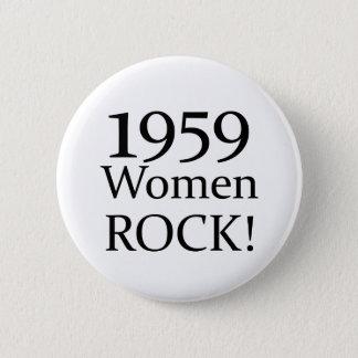 50th Birthday Gifts, 1959 Women Rock! 2 Inch Round Button