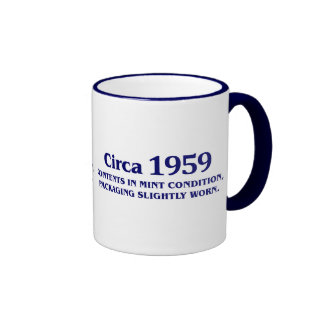 50th birthday gifts for sale! ringer coffee mug