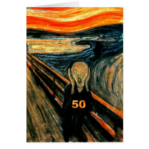 50th Birthday Gifts, The Scream 50! Cards
