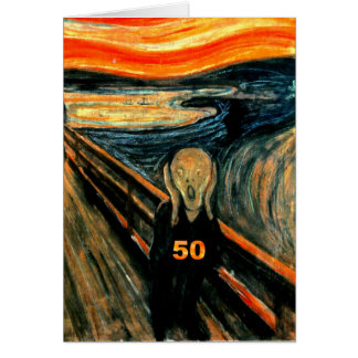 50th Birthday Gifts The Scream 50 Cards