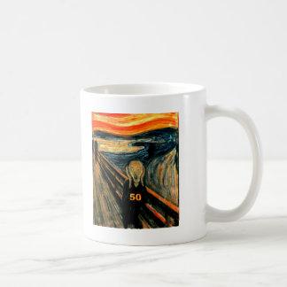 50th Birthday Gifts, The Scream 50! Coffee Mug