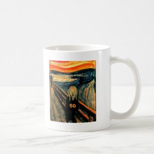 50th Birthday Gifts, The Scream 50! Coffee Mugs