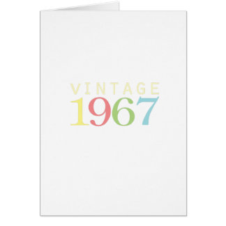50th birthday gifts - Vintage 1967 Card