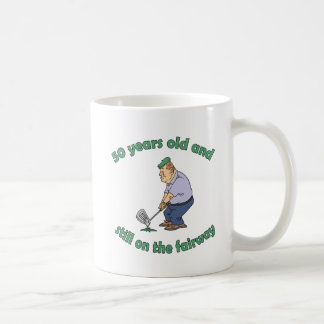 50th Birthday Golfer Gag Gift Classic White Coffee Mug