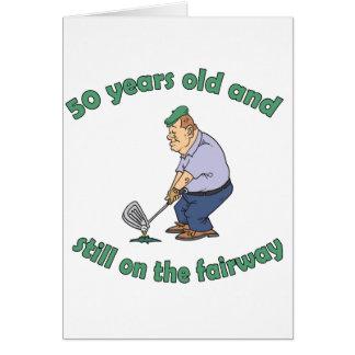 50th Birthday Golfer Gag Gift Greeting Card