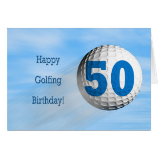 50th birthday golfing card