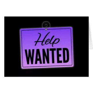 "**50th** BIRTHDAY ""HELP WANTED SIGN"" Card"