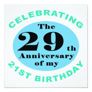 """50th Birthday Humor 5.25"""" Square Invitation Card"""