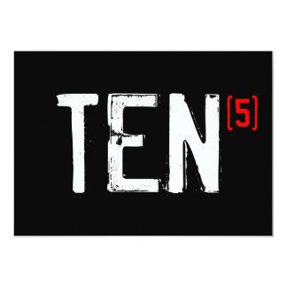 50th Birthday Invitation - A Ten (times 5!)