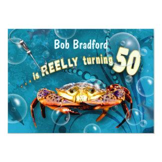 50th Birthday Invitation - CRAB FEAST