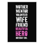 50th Birthday Invitation - Mom Volunteer Hero