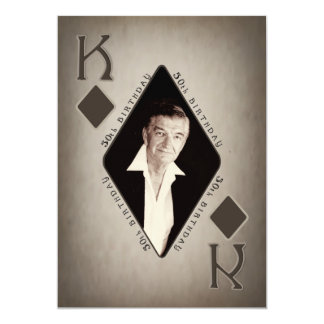 50TH BIRTHDAY INVITATION - PHOTO - POKER/KING