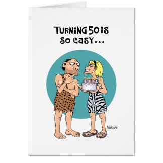 50th Birthday is Easy Greeting Cards