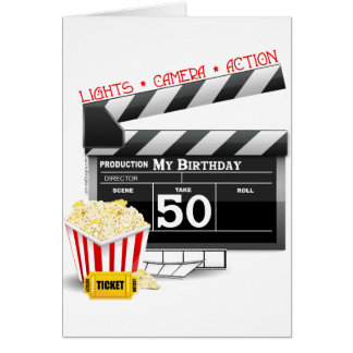 50th Birthday Movie Theme Card
