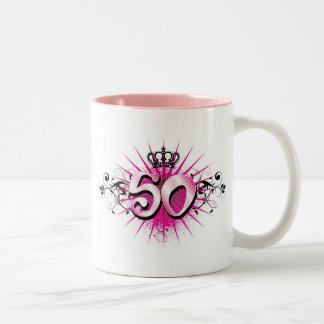 50th birthday or anniversary Two-Tone coffee mug