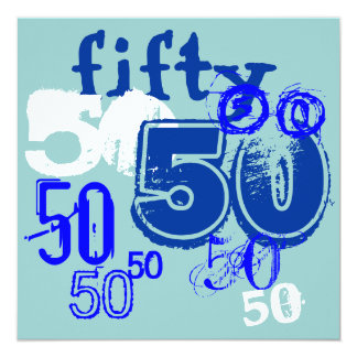 50th Birthday Party Card