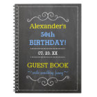50th Birthday Party Guest Book- Notebook