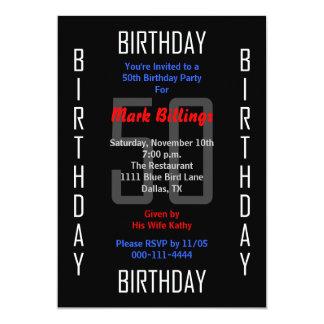 50th Birthday Party Invitation 50