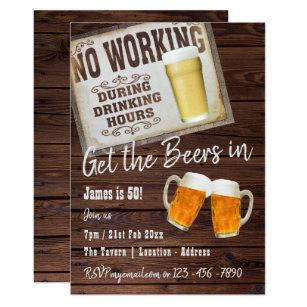 50th birthday invitations announcements zazzle ca 50th birthday party invitation cheers to beers filmwisefo