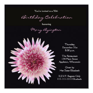 50th Birthday Party Invitation Gorgeous Gerbera