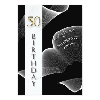 50th Birthday Party Invitation - Modern