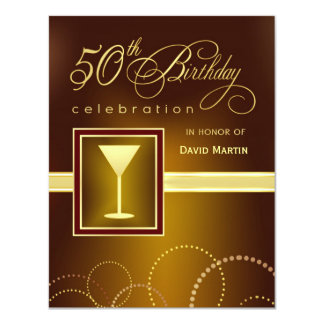 50th Birthday Party Invitations - Contemporary