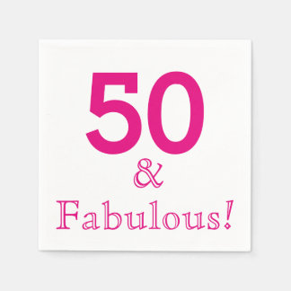 50th Birthday Party Paper Napkins