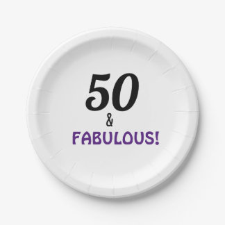 50th Birthday Party Paper Plates