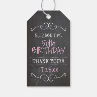 50th Birthday Party Thank You Guest Favor Pack Of Gift Tags