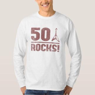 50th Birthday Rocks T Shirt