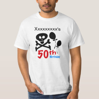 50th Birthday Skull Crossbones T-Shirt