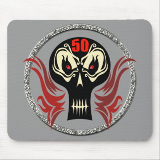 50th Birthday Skull Mousepad