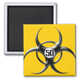 50th Birthday Square Magnet