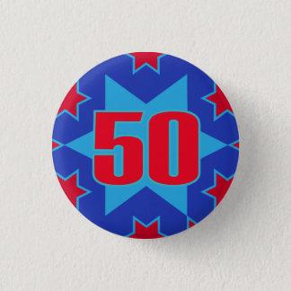 50th Birthday star button/badge 1 Inch Round Button