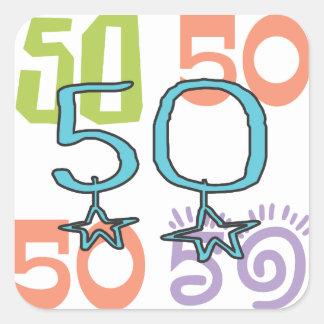 50th birthday Star Square Sticker