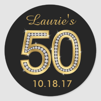 50th Birthday Stickers | Diamond