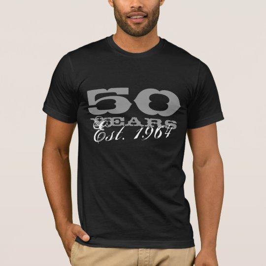 50th Birthday tee shirt for men |  Est. 1964 -2014