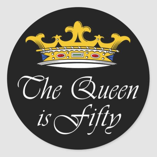 50th birthday The Queen is 50! Stickers