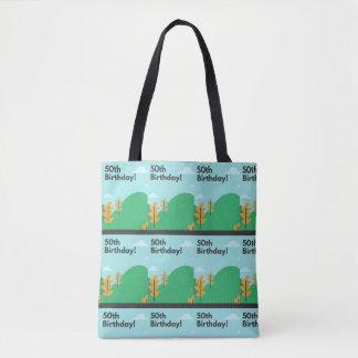 50th birthday tote bag