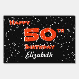 50th Birthday Yard Signs