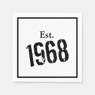 50th Birthday Year  1968 Custom Paper Napkin
