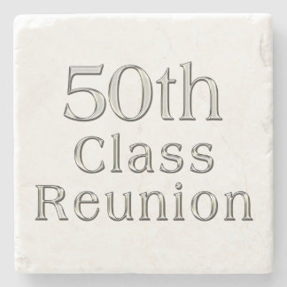 50th Class Reunion Gift, Marble Coasters