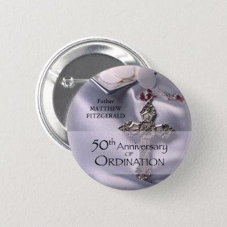 50th Custom Name Ordination Anniversary Chalice 2 Inch Round Button