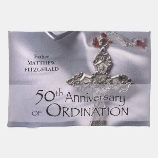 50th Custom Name Ordination Anniversary Chalice Kitchen Towel