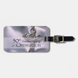 50th Custom Name Ordination Anniversary Chalice Luggage Tag