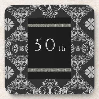 50th drink coaster