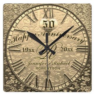 50th Gold Wedding Anniversary Vintage Antique Wall Clocks